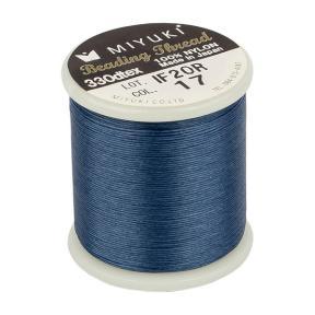 Нить Miyuki нейлоновая 50 м синяя