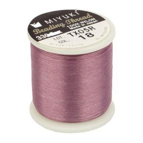Нить Miyuki нейлоновая 50 м розовая