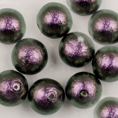 Miyuki Cotton Pearls 10 мм Rich Green Black
