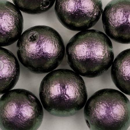 Miyuki Cotton Pearls 12 мм Rich Green Black