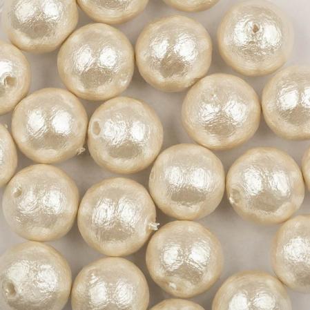 Miyuki Cotton Pearls 8 мм Off-White