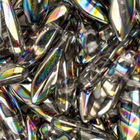 2-hole Glass Dagger 5х16 мм Crystal Vitrail Stripes