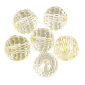 Preciosa round bead rich cut 6mm medium yellow