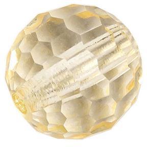 Preciosa round bead rich cut 8mm light brown