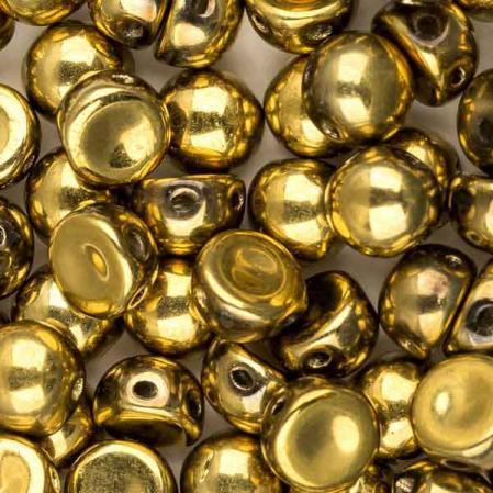Cabochon 6 мм Crystal Amber Full (10 шт)