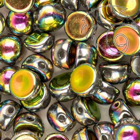 Стеклянные чешские бусины Cabochon 6 мм Crystal Vitrail Full (10 шт)