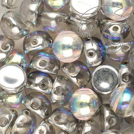 Cabochon 6 мм Crystal Silver Rainbow (10 шт) Cab-6-00030-98530