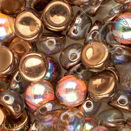 Стеклянные чешские бусины Cabochon 6 мм Crystal Copper Rainbow (10 шт)