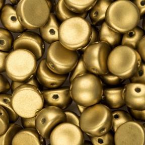 Cabochon 6 мм Alabaster Metallic Olivine (10 шт)