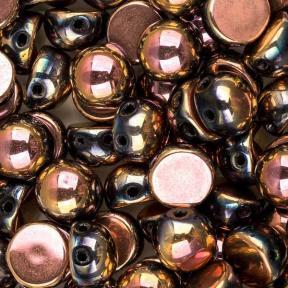 Cabochon bead 6 мм Jet Full Capri Rose (10 шт)