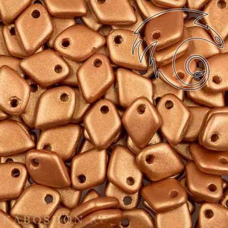 Стеклянные чешские бусины Dragon Scale Bead 1,5х5 мм Alabaster Metallic Copper