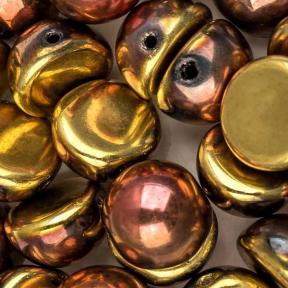 Dome Bead 10х6 мм Jet California Gold Rush