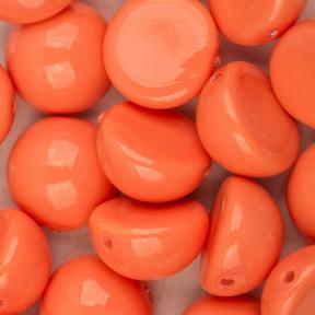 Dome Bead 10х6 мм Peach Coral (5 шт)