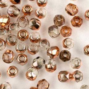 Fire polished 3 мм Crystal Capri Gold