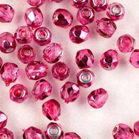 Fire polished 3 мм Crystal Rose Metallic Ice