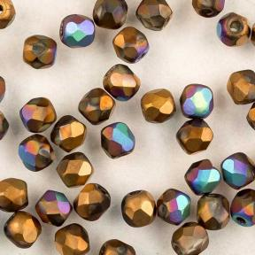 Fire polished 3 мм Crystal Glittery Bronze Matted