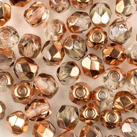 Fire polished 4 мм Crystal Capri Gold