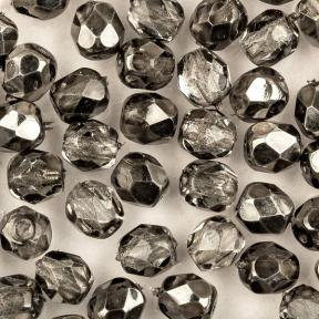 Fire polished 4 мм Crystal Earthtone Metallic Ice