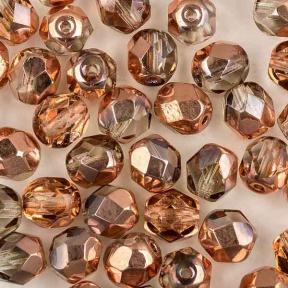 Fire polished 6 мм Crystal Capri Gold