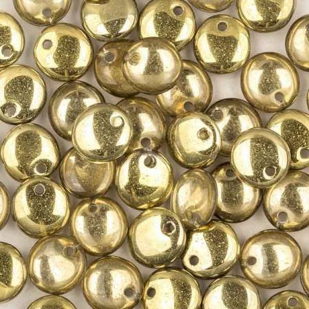 Lentils 6 mm Crystal Amber