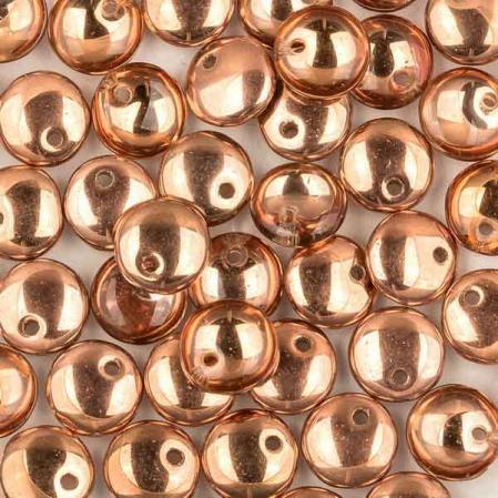 Lentils 6 mm Crystal Capri Gold