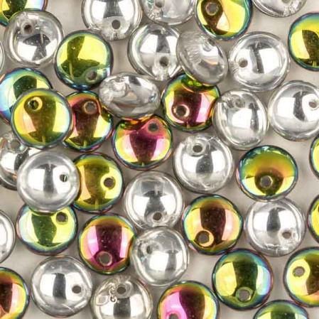 Lentils 6 mm Crystal Vitrail