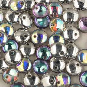 Lentils 6 mm Crystal Silver Rainbow
