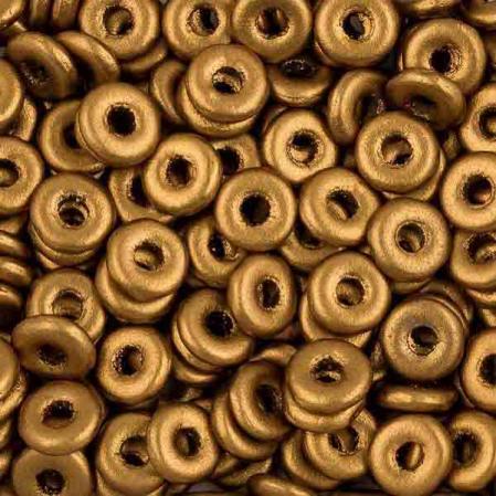 O bead 4 мм Brass Gold