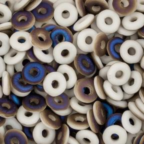O bead 4 мм Chalk White Azuro Matted