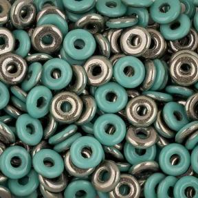 O bead 4 мм Jade Chrome