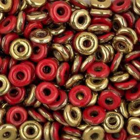 O bead 4 мм Opaque Red Amber
