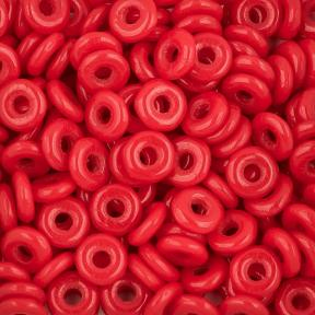 O bead 4 мм Opaque Red
