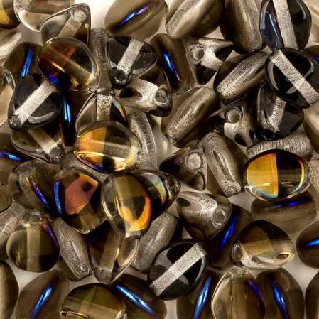 Pinch beads 5х3 мм Crystal Azuro