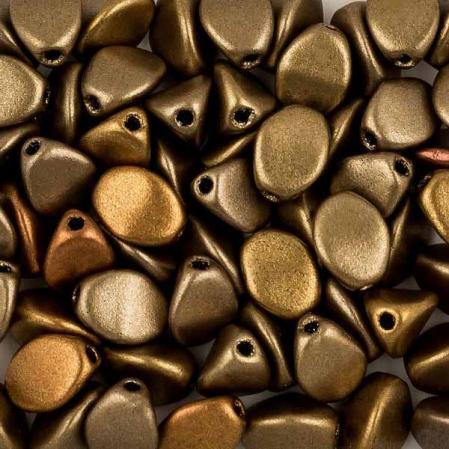 Pinch beads 5х3 мм Metallic Mix