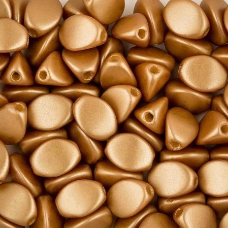 Pinch beads 5х3 мм Alabaster Pastel Amber