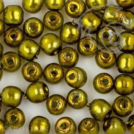 Стеклянный жемчуг 2 мм Shiny Olive