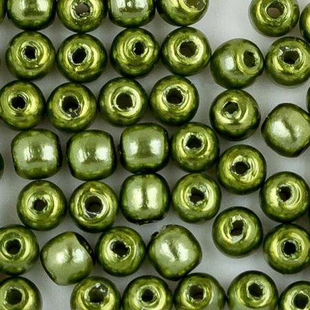 Стеклянный жемчуг 2 мм Shiny Green Apple