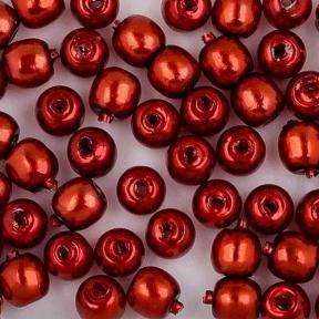 Стеклянный жемчуг 2 мм Shiny Burnt Orange