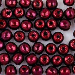 Стеклянный жемчуг 2 мм Shiny Wine