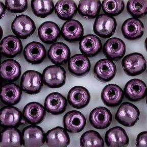 Стеклянный жемчуг 2 мм Shiny Eggplant