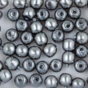 Стеклянный жемчуг 2 мм Shiny Grey