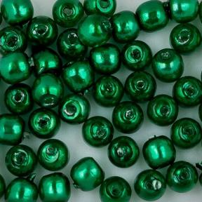 Стеклянный жемчуг 2 мм Shiny Emerald