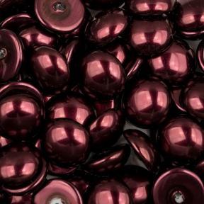 Glass Pearl Cabochons 14 мм Shiny Burgundy (5 шт)