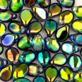 Pip Beads 5х7 мм Crystal Magic Blue
