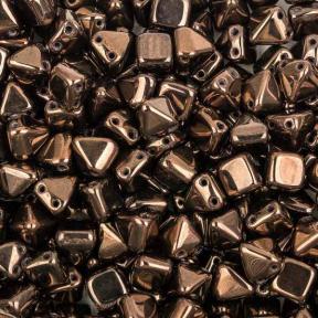 Pyramid beads 2-hole 6 мм Jet Lila Vega Luster (10 шт)