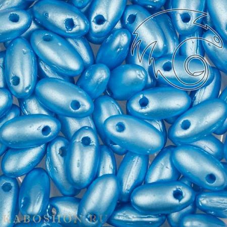 Стеклянные чешские бусины Rizo 2,5х6 мм Alabaster Pastel Turquoise
