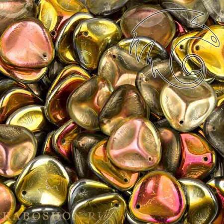 Стеклянные чешские бусины Rose Petal 14х13 мм Crystal Marea