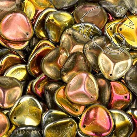 Стеклянные чешские бусины Rose Petal 14х13 мм Crystal Marea (10 шт)