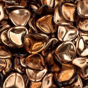 Rose Petal 14х13 мм Light Smokey Topaz Capri Gold (10 шт)