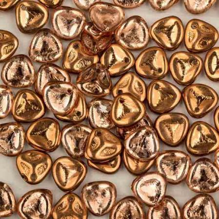 Rose Petal 8х7 мм Crystal Capri Gold (10 шт)
